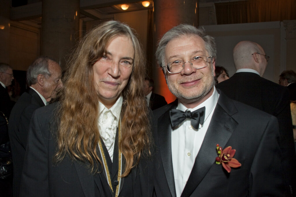 Seth Lerer with Patti Smith at the National Book Awards Ceremony, 2010