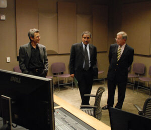 Talking music with Professor Aleck Karis and Chancellor Pradeep Khosla, UC-San Diego